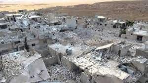 مخيم حندرات بعد دماره