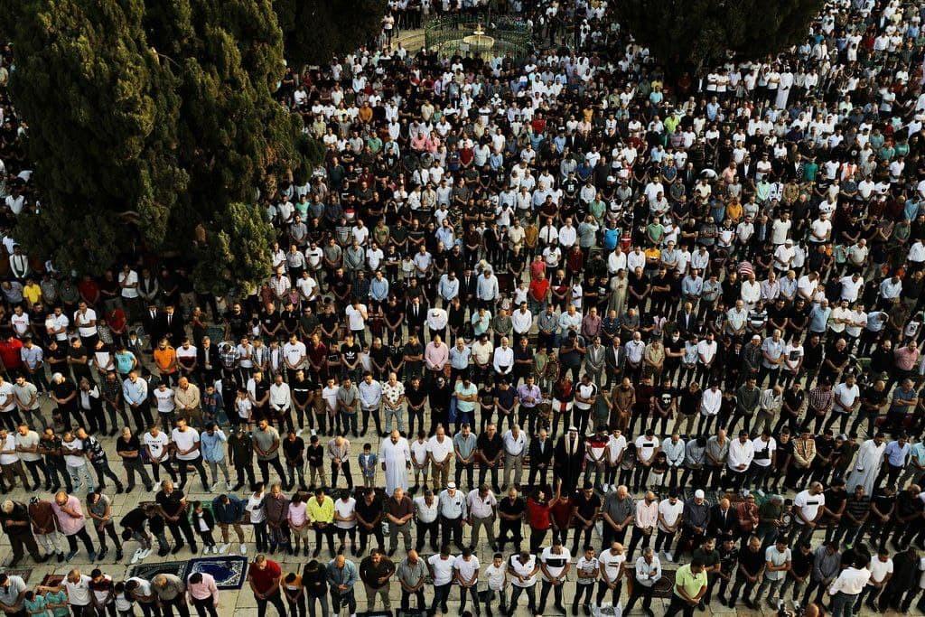 صلاة عيد الأضحى في المسجد الأقصى 11