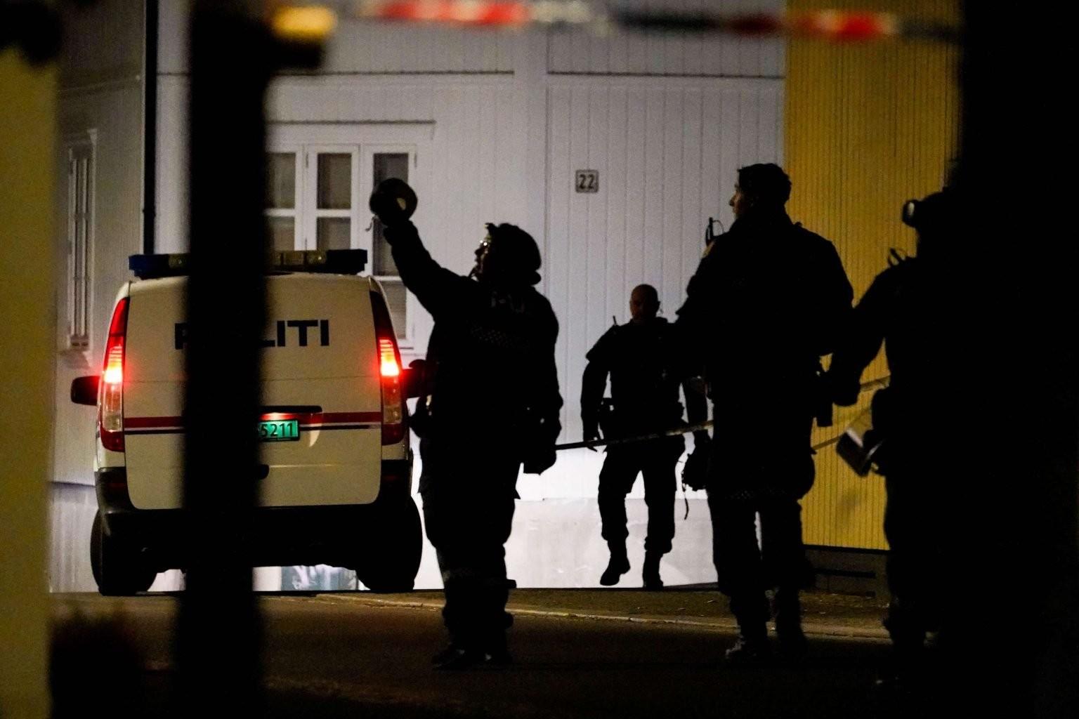 قوات شرطة نرويجية في مكان الهجوم 11