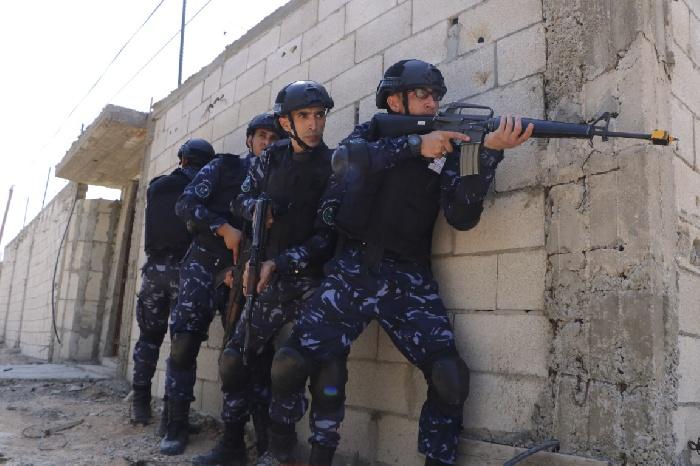 صورقواتالأمنالفلسطينيةأثناتنفيذهاتدريباتعسكريةفيأريحا